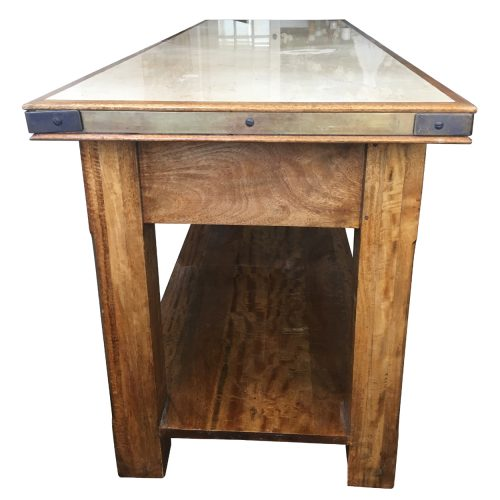 Two Design Lovers marble and timber topped console table side