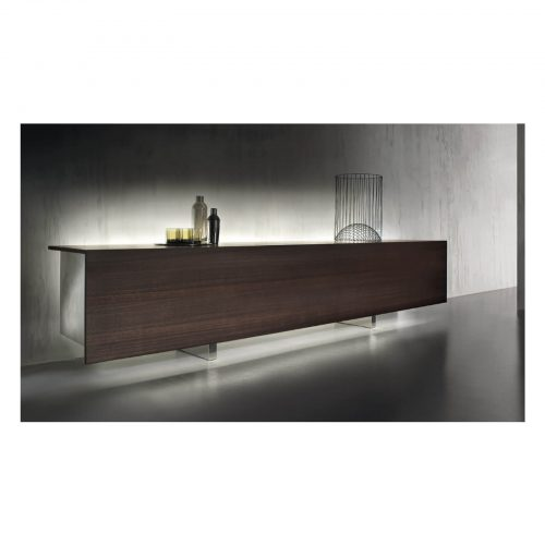 Two Design Lovers Acerbis dark veneer sideboard ad