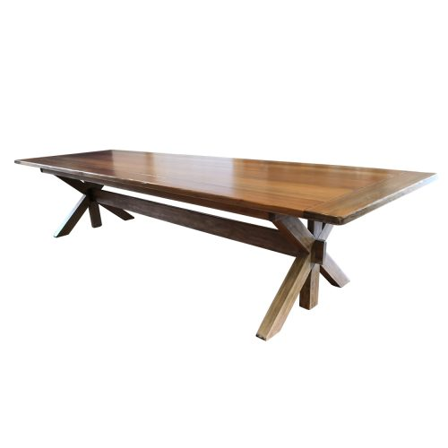 Two Design Lovers Kauri pine dining table seats 12