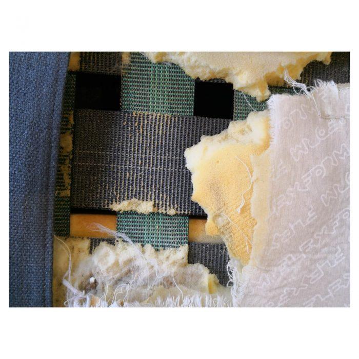 Two Design Lovers Flexform sofa right chaise damage