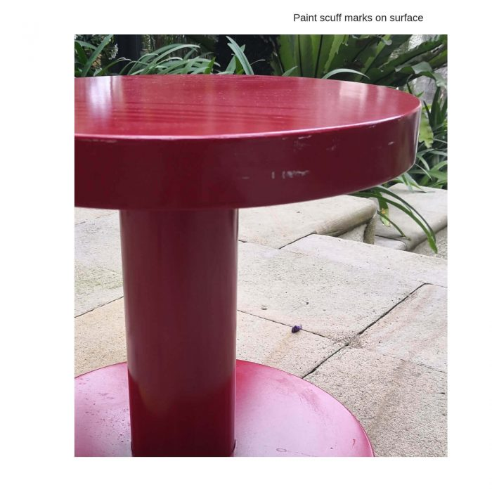Two Design Lovers Moooi red side table edge