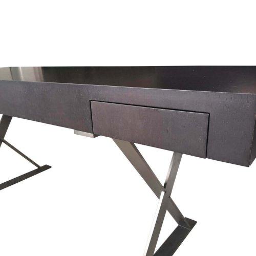 B&B Italia dark wood desk close up