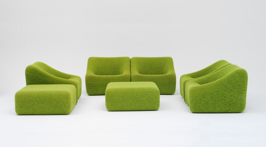 Two Design Lovers authentic design Featherston green lounge