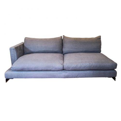 Two Design Lovers Flexform sofa left chaise front