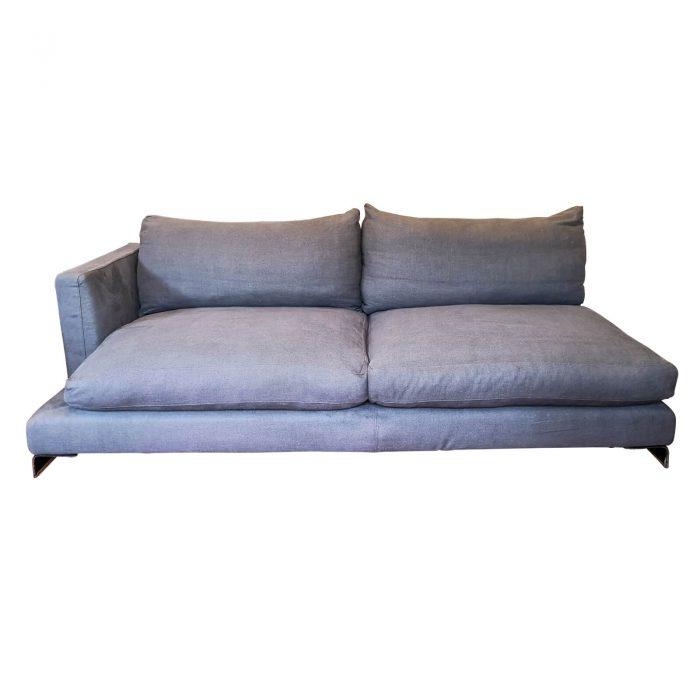 Two Design Lovers Flexform sofa left chaise front