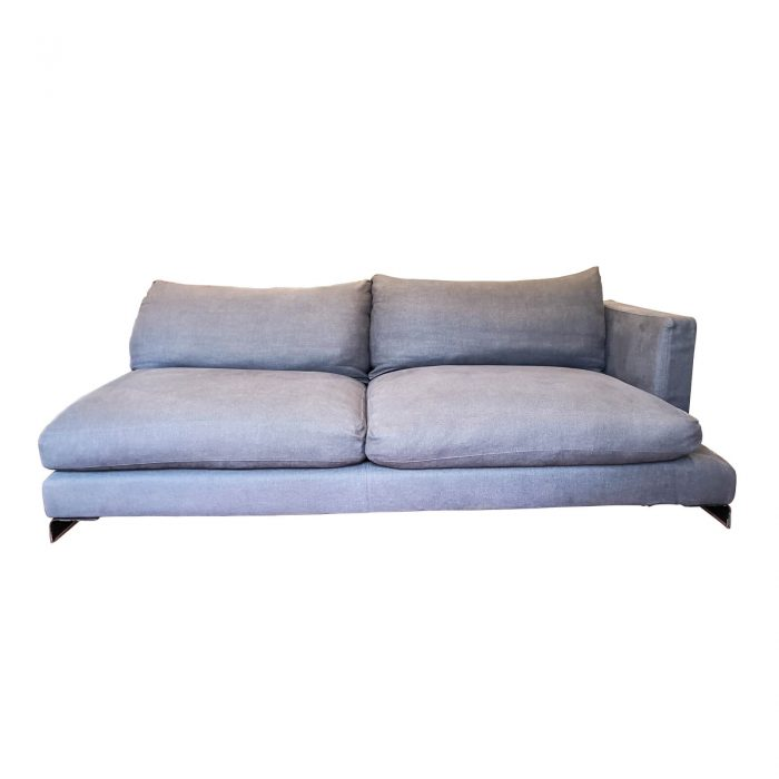 Two Design Lovers Flexform sofa right chaise front