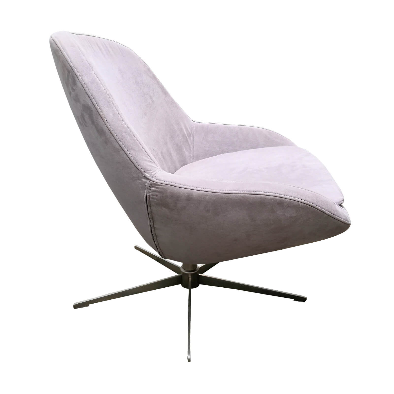 Two Design Lovers Bo Concept Veneto grey occasional swivel chair side