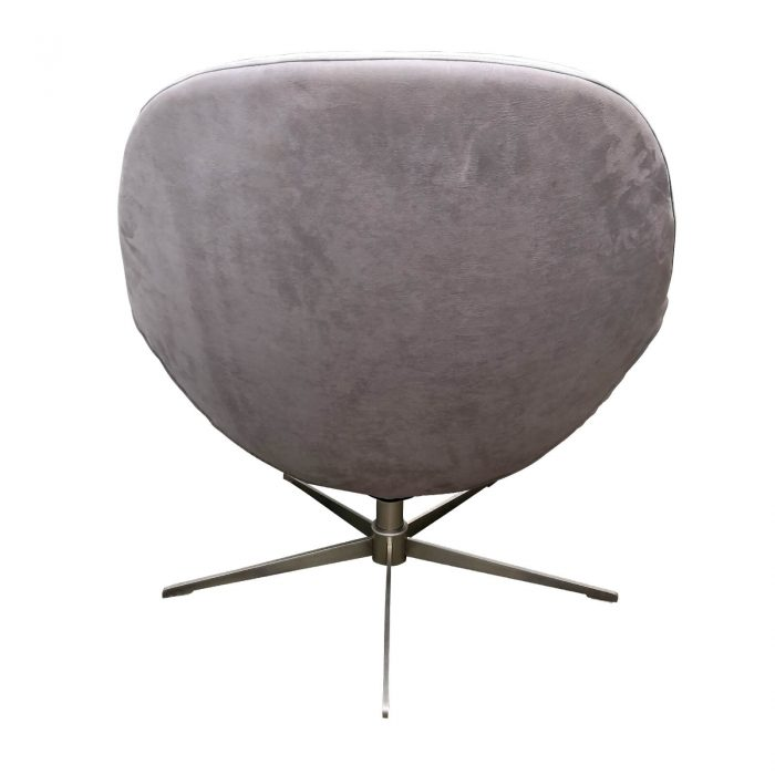 Two Design Lovers Bo Concept Veneto grey occasional swivel chair back