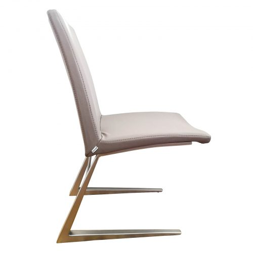 Two Design Lovers Bo Concept Mariposa Deluxe grey leather dining chair side