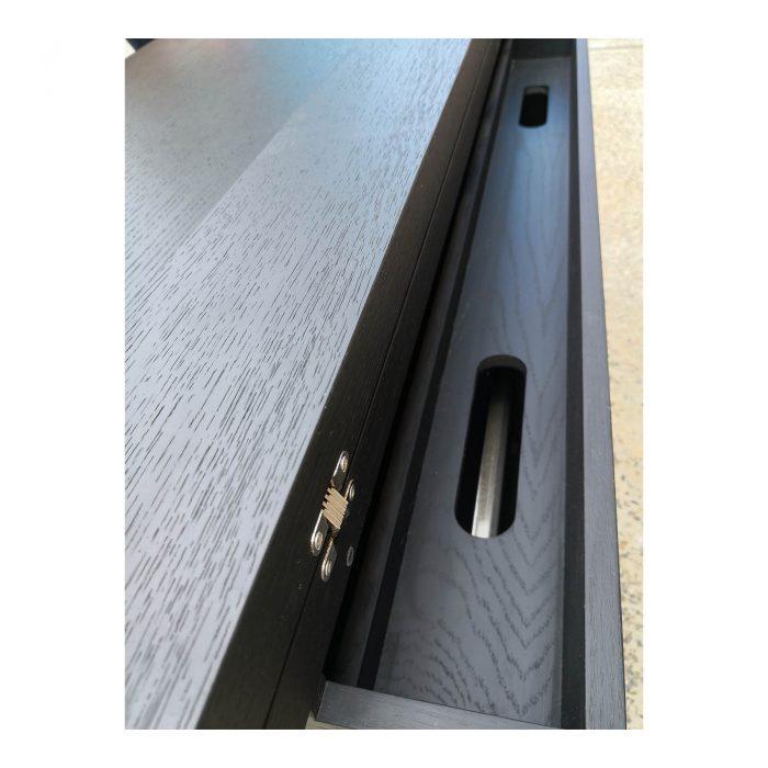 Two Design Lovers dark veneer filing cabinet back detail
