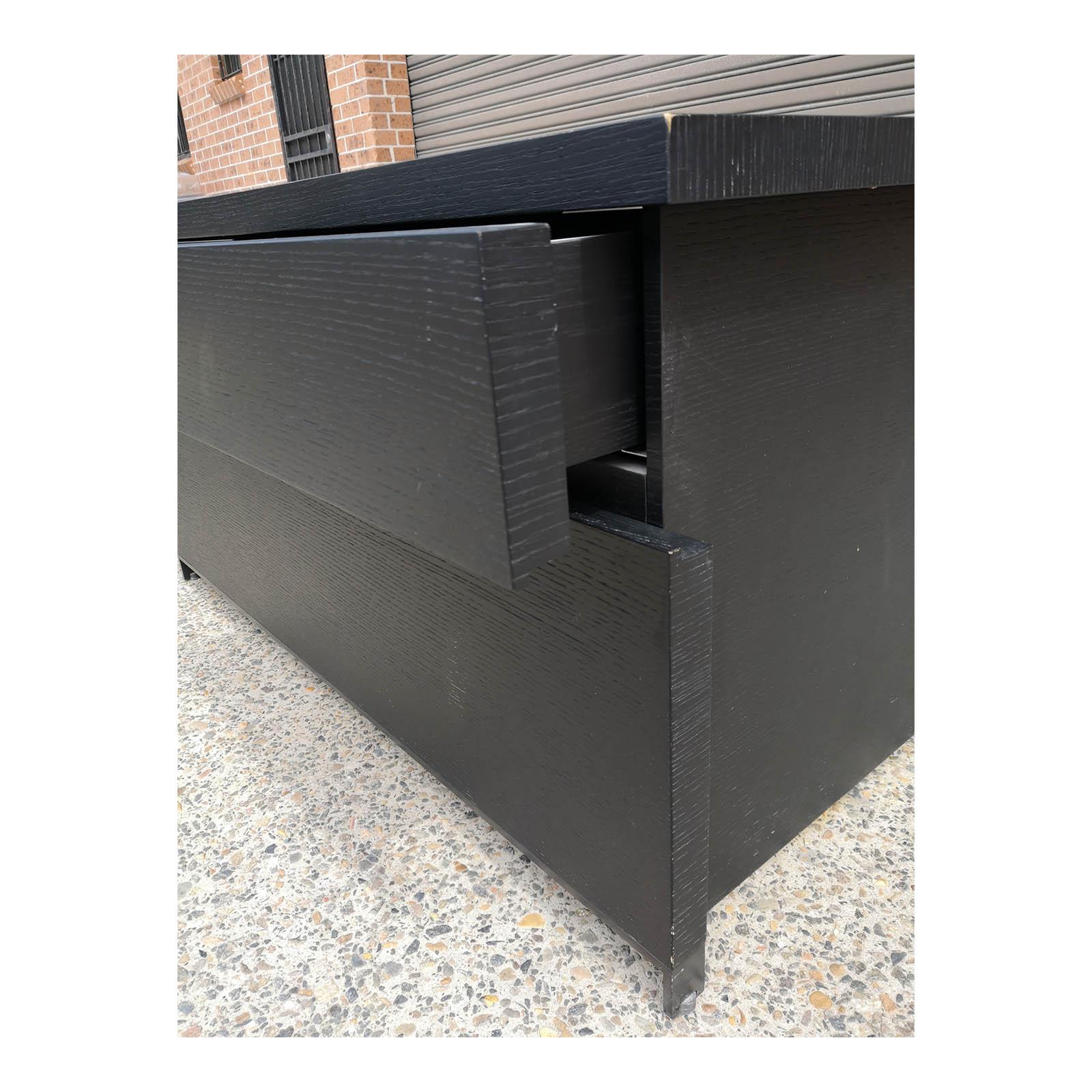 Two Design Lovers dark veneer filing cabinet drawer