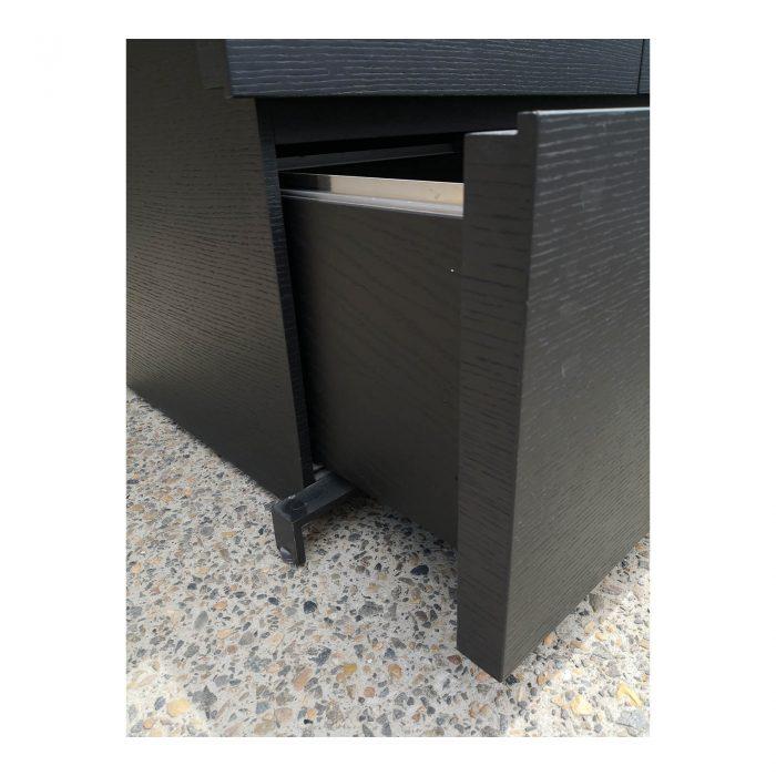 Two Design Lovers dark veneer filing cabinet lower drawer