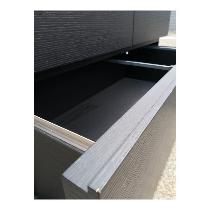 Two Design Lovers dark veneer filing cabinet drawer inside