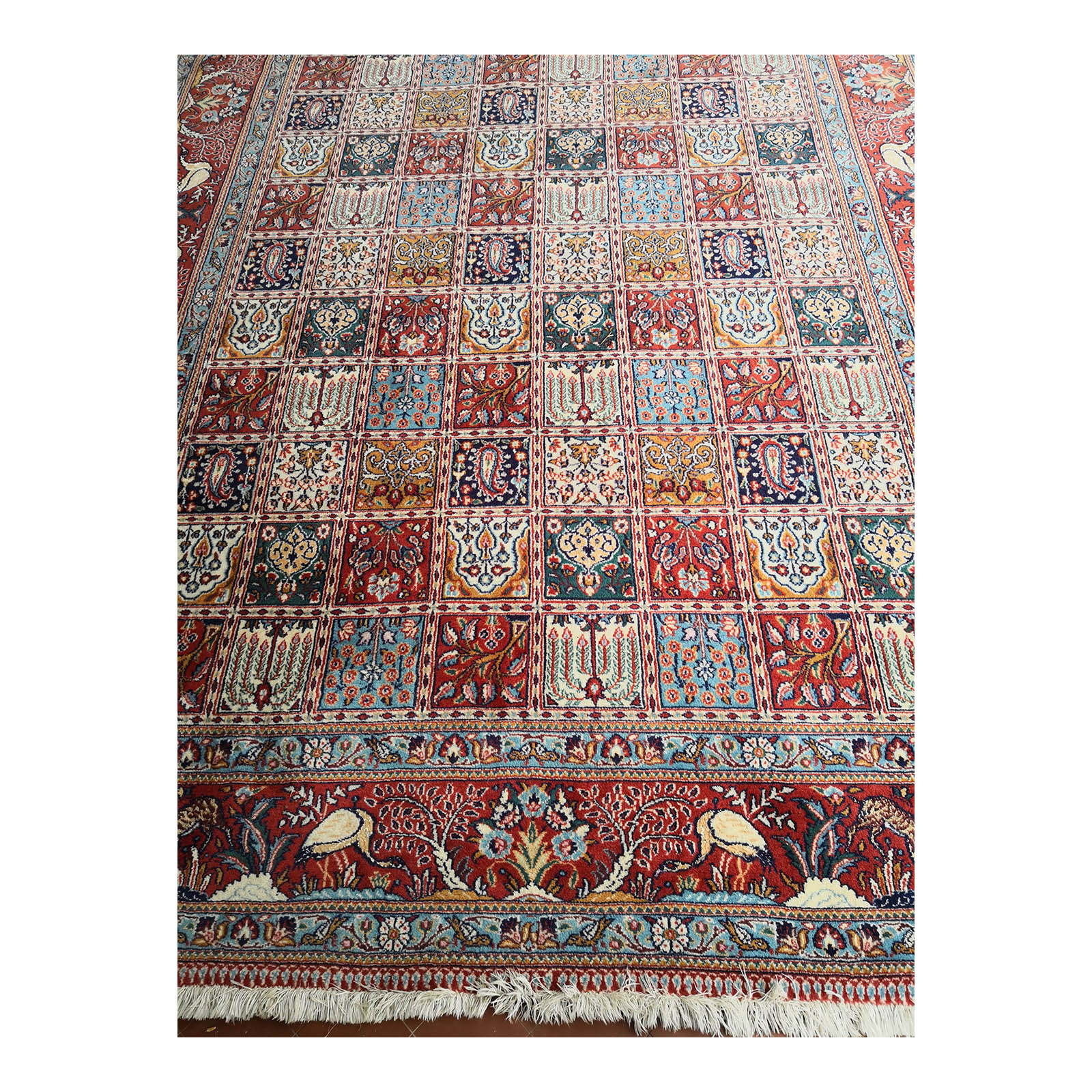 Two Design Lovers Iranian Khesti rug end