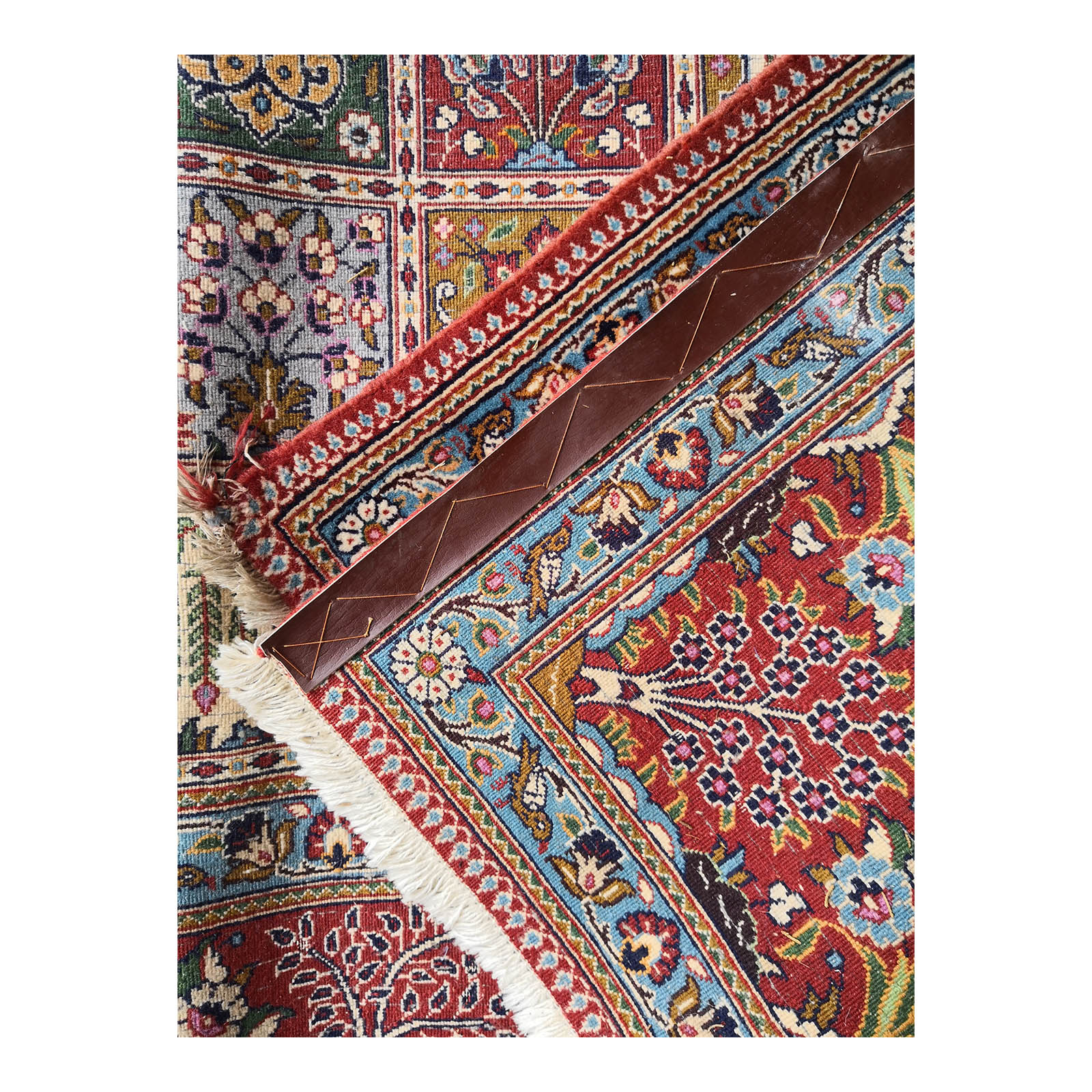 Two Design Lovers Iranian Khesti rug back corner