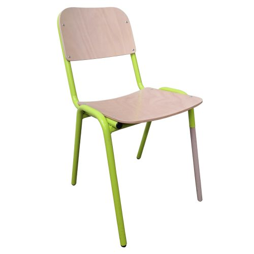 Two Design Lovers Koskela Jake chair green three metal legs angle