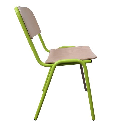 Two Design Lovers Koskela Jake chair green three metal legs side