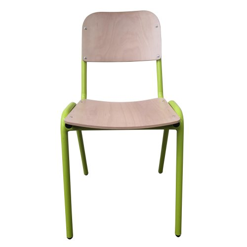 Two Design Lovers Koskela Jake chair green four metal legs front