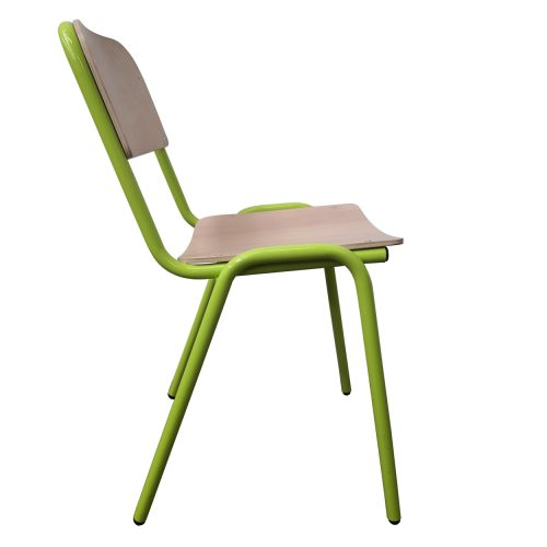Two Design Lovers Koskela Jake chair green four metal legs side