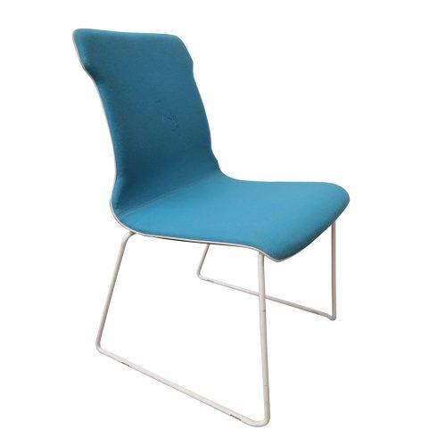 Two Design Lovers Koskela blue Konverse chair white legs angle