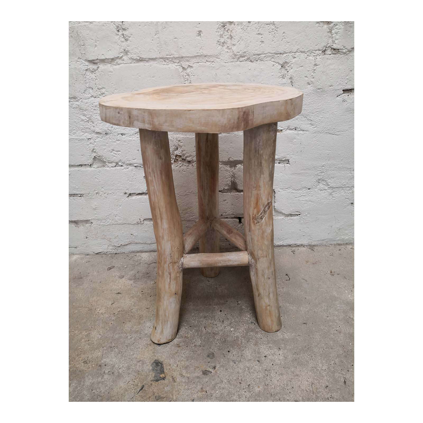 Two Design Lovers white oiled live edge side table side