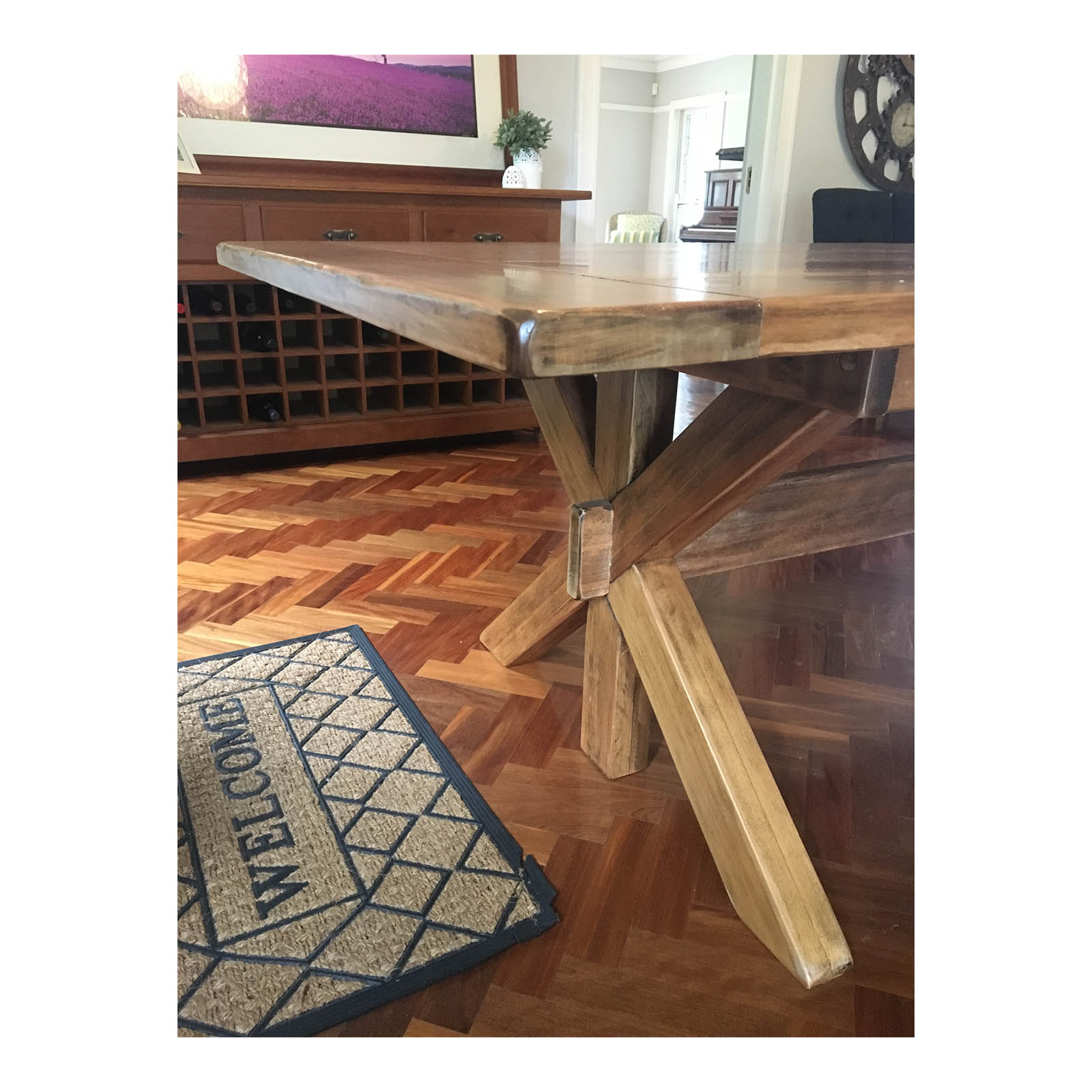 Dining Table Seats 12: Kauri Pine Dining Table, Seats 12
