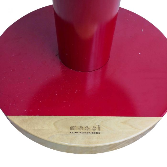 Two Design Lovers Moooi red side table close up 4