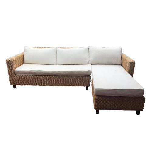 Two Design Lovers Rattan 2 piece L shaped sofa