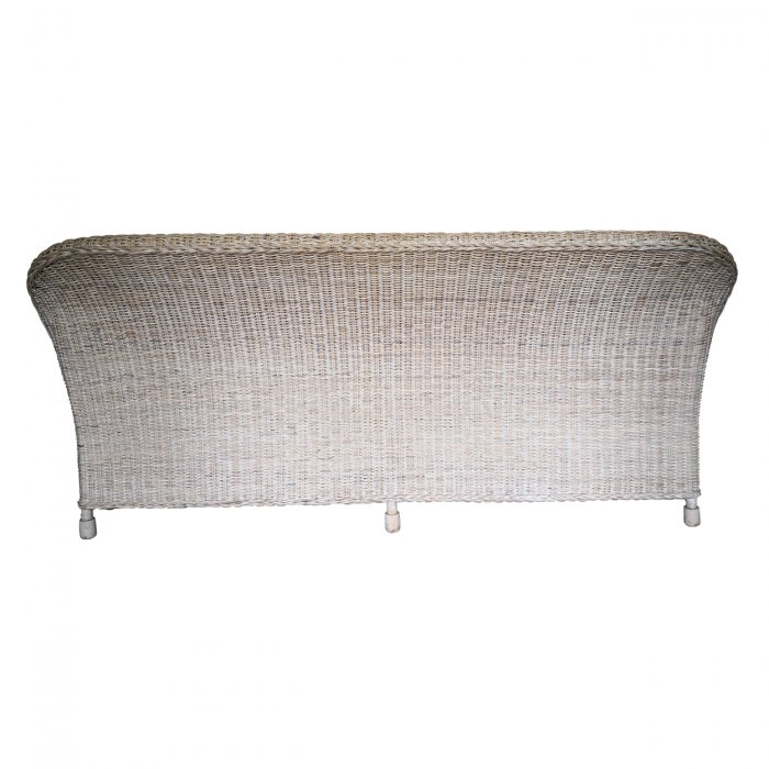 Two Design Lovers three piece cane sofa set with fabric cushions, back