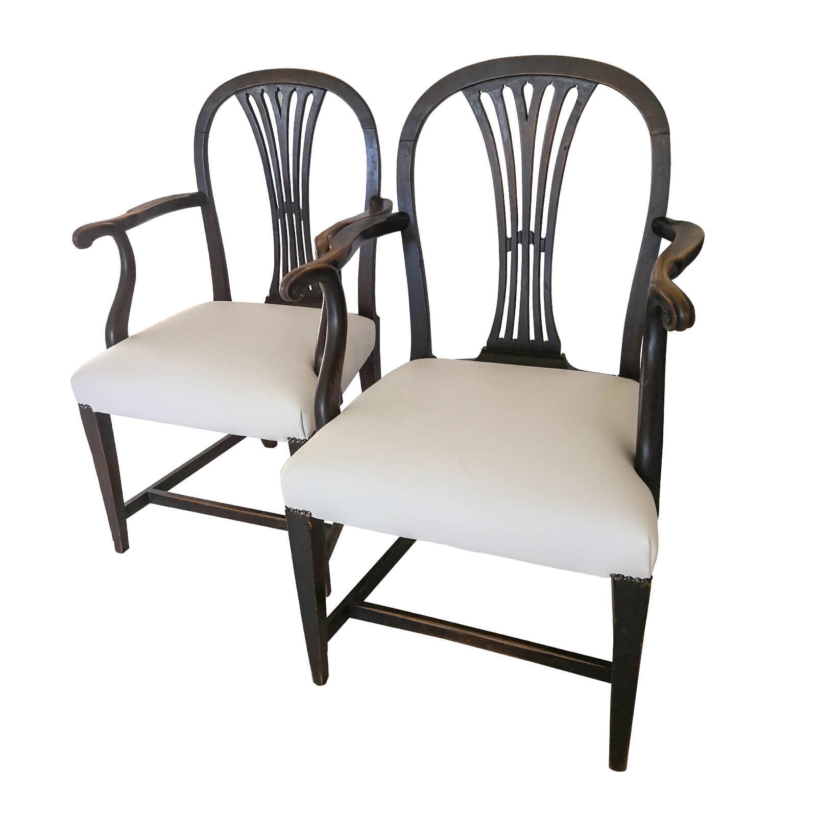 Antique Georgian Carver Dining Chairs (Set of 2) | Two ...