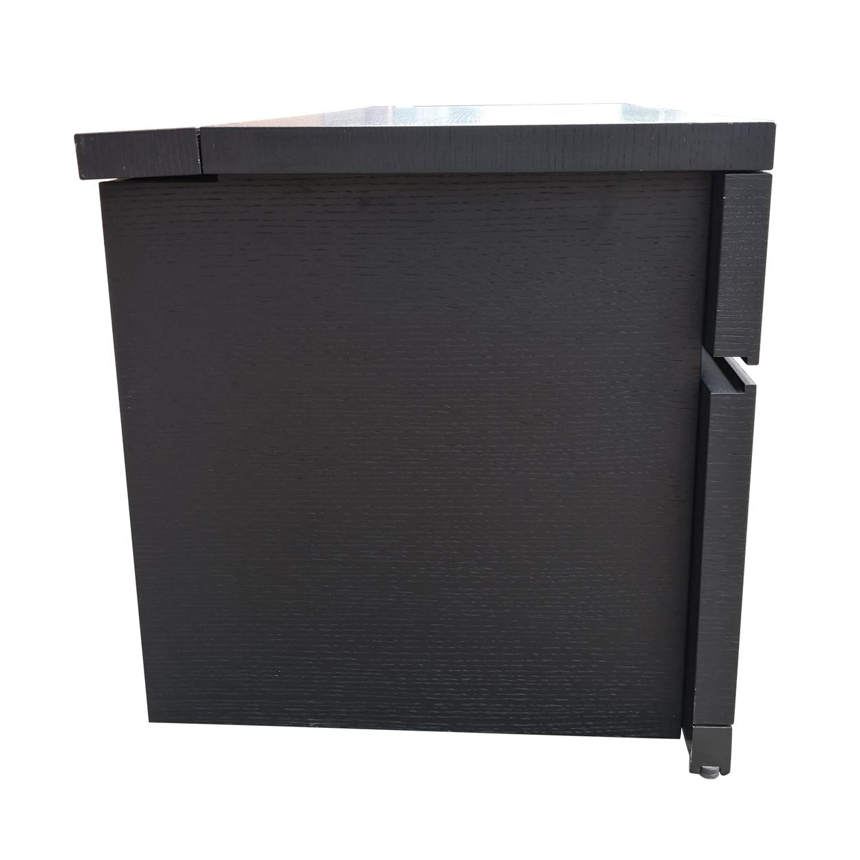 Two Design Lovers dark veneer filing cabinet side
