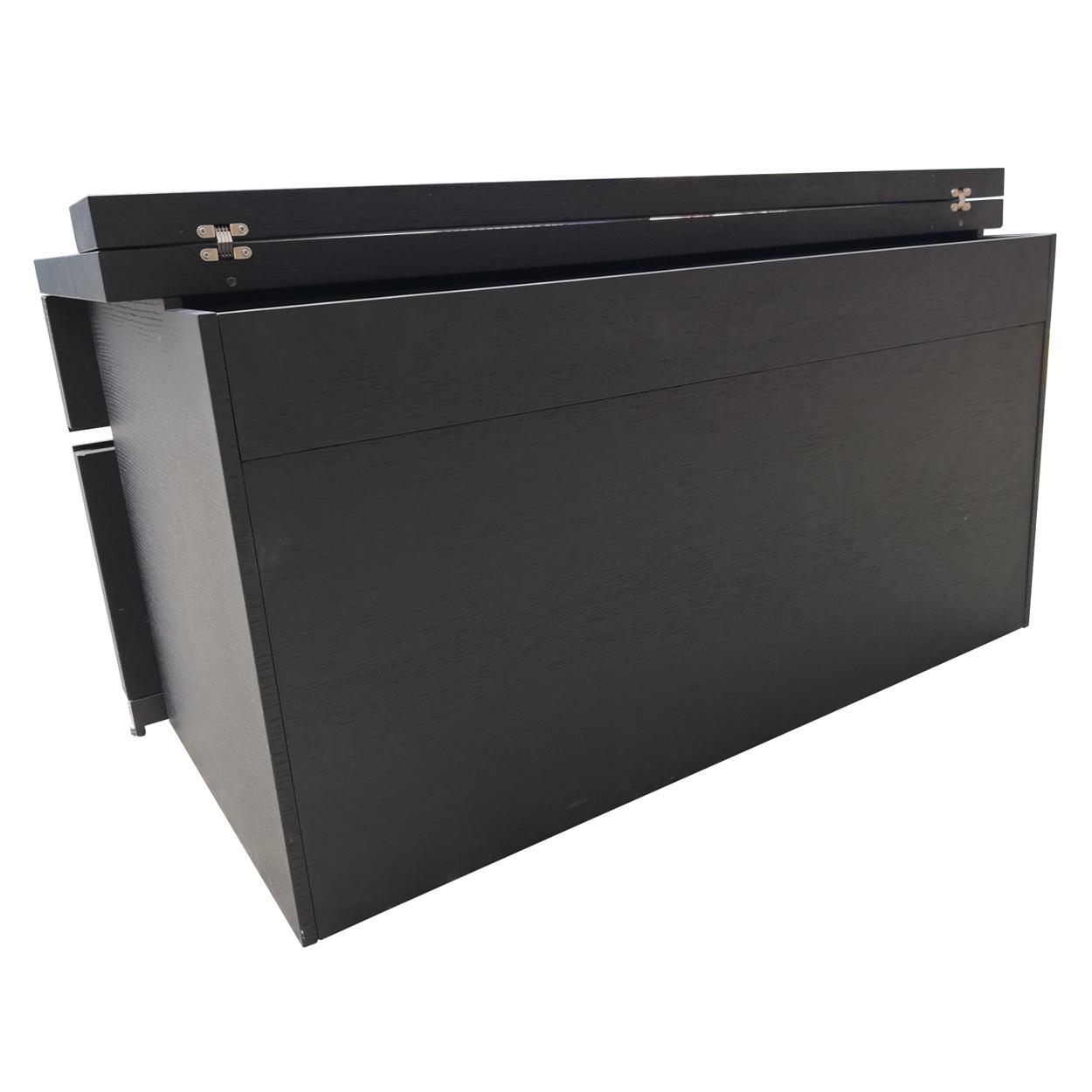 Two Design Lovers dark veneer filing cabinet back