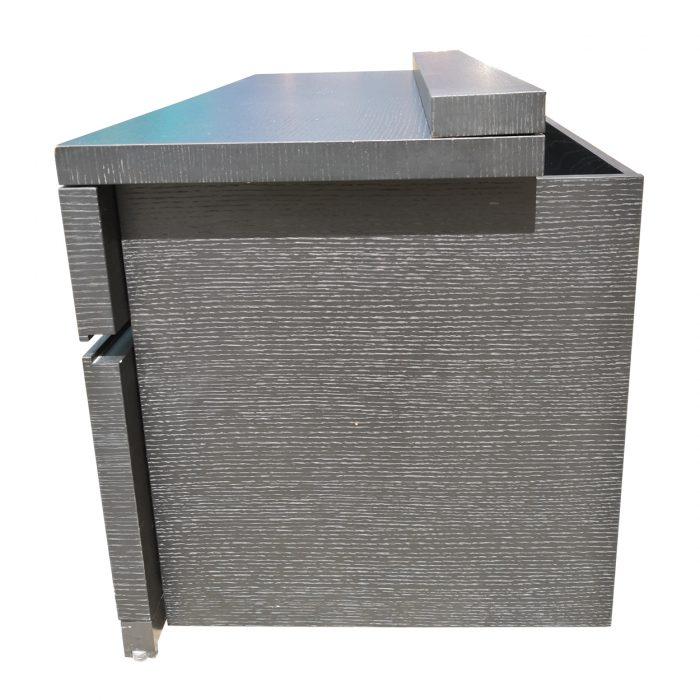 Two Design Lovers dark veneer filing cabinet side view