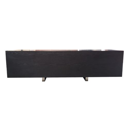 Two Design Lovers Acerbis dark veneer sideboard front