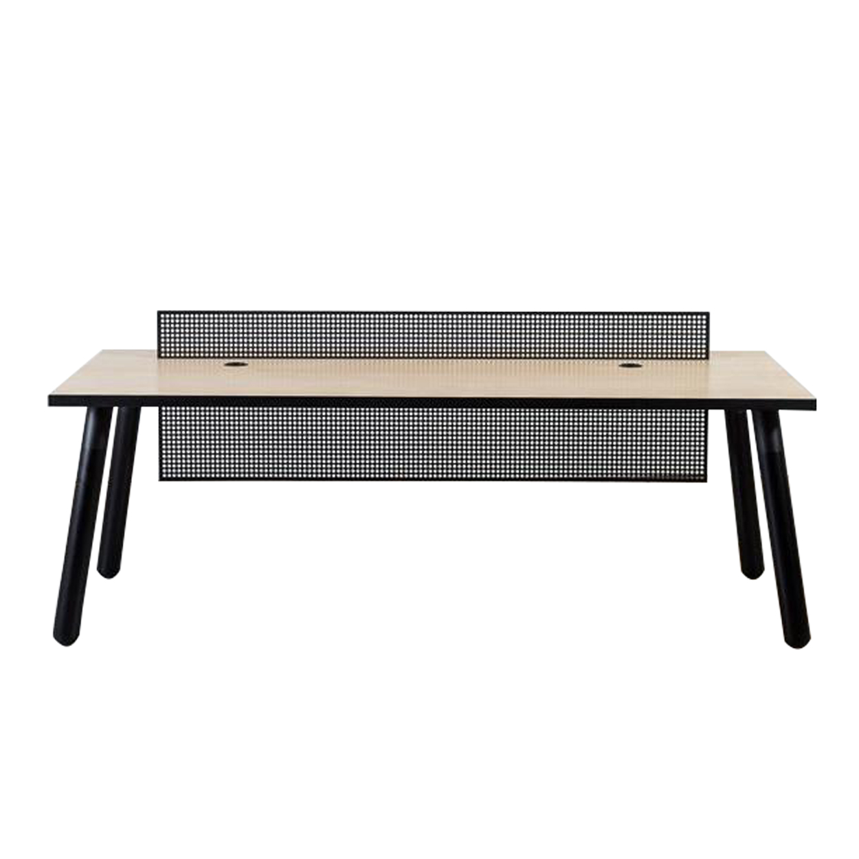 Two Design Lovers Koskela PBS black reception desk front