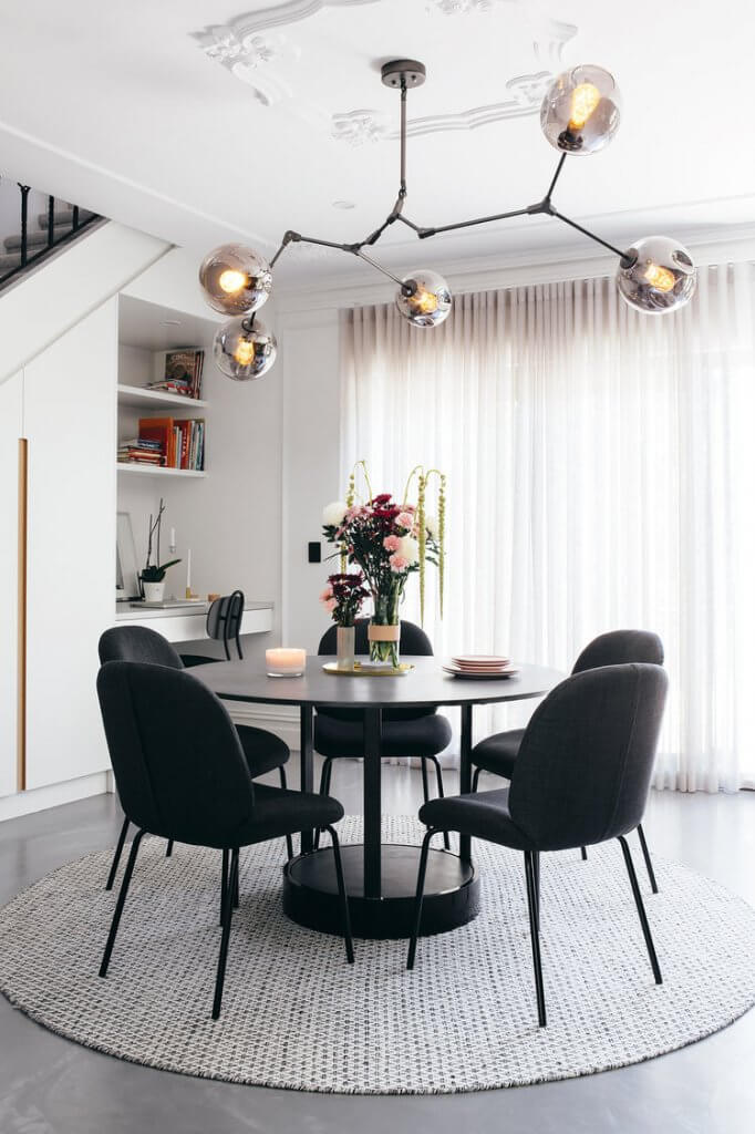 Two Design Lovers Dining Room Rugs circular table