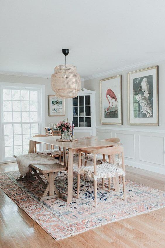 Two Design Lovers Dining Room Rugs old and new styles