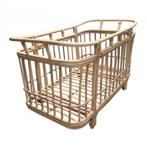 Two Design Lovers cane cot side angle