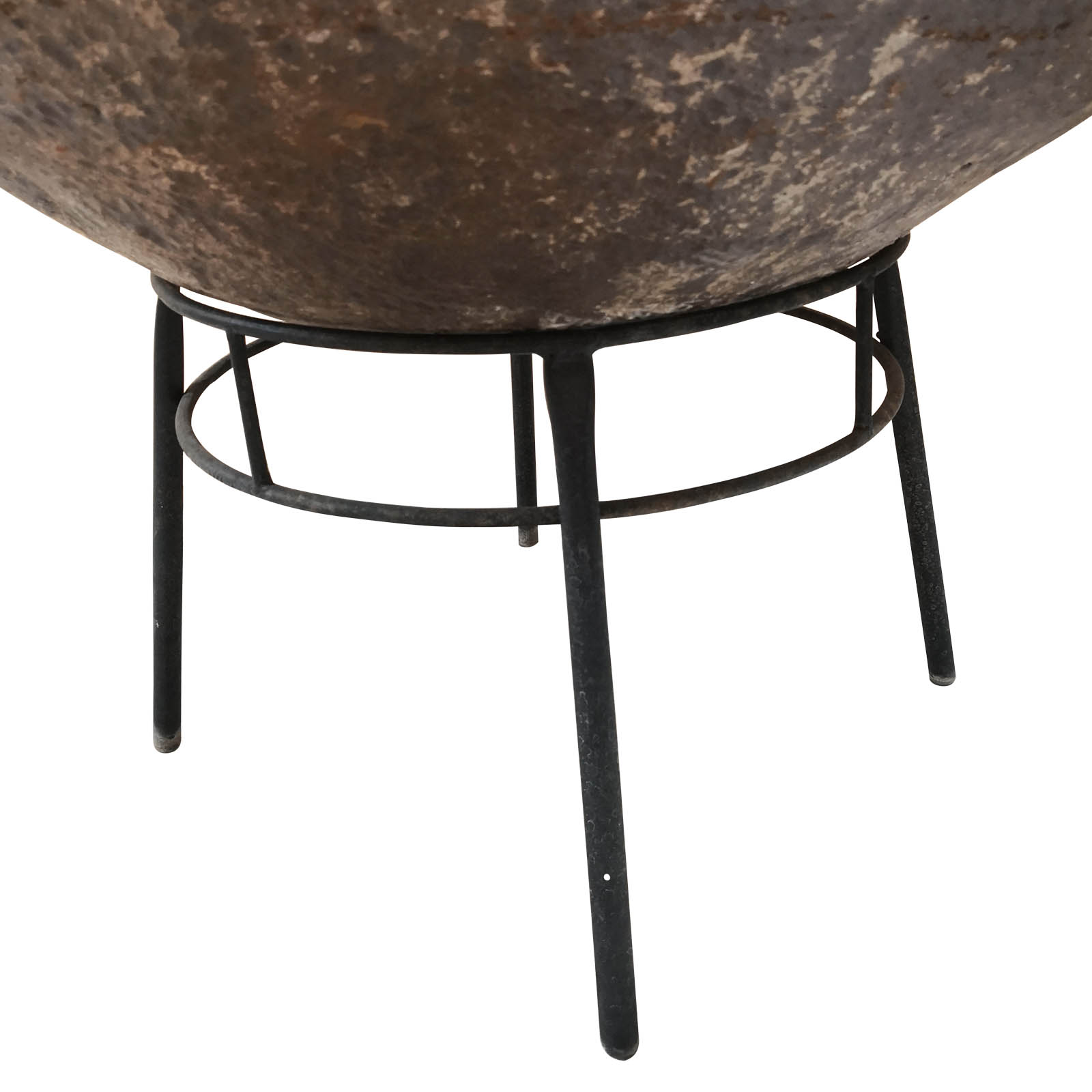 Two Design Lovers metal fire pit close up side view