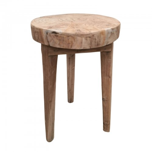 Two Design Lovers natural wood pair of side tables model 2