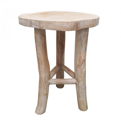 Two Design Lovers white oiled live edge side table