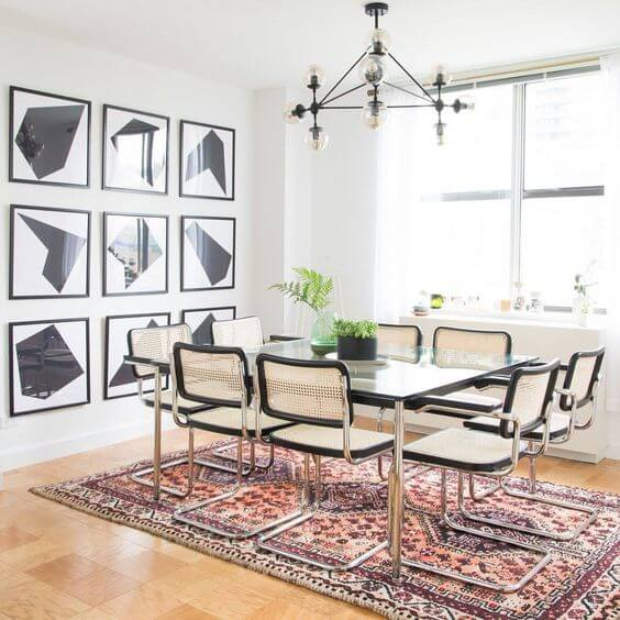 Two Design Lovers dining room Tali Roth Persian rug