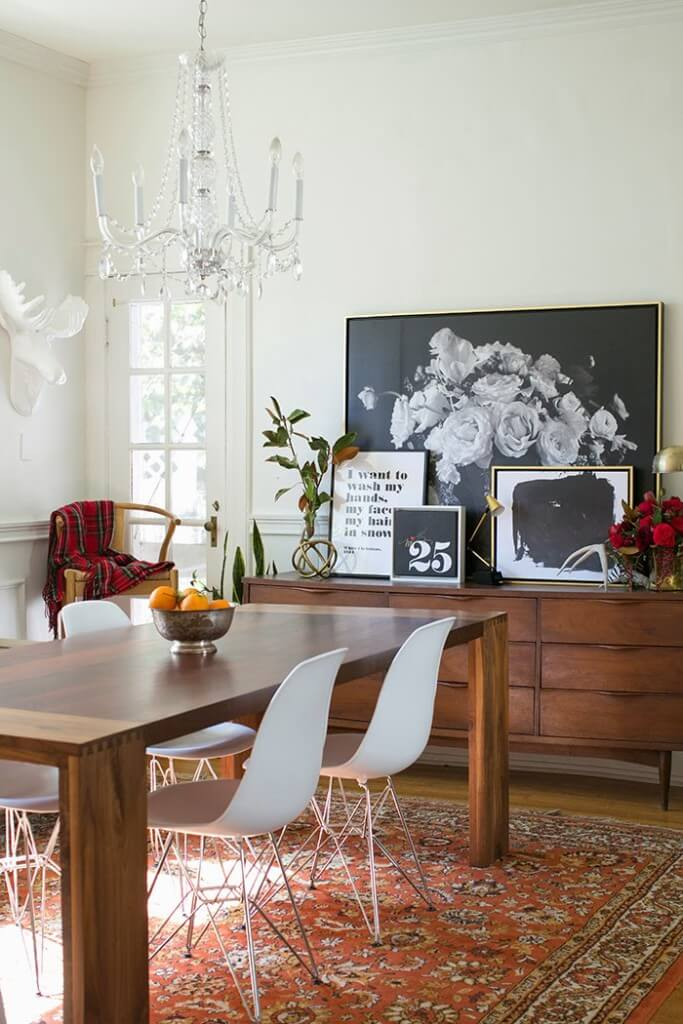 Two Design Lovers dining room the Makerista with persian rug