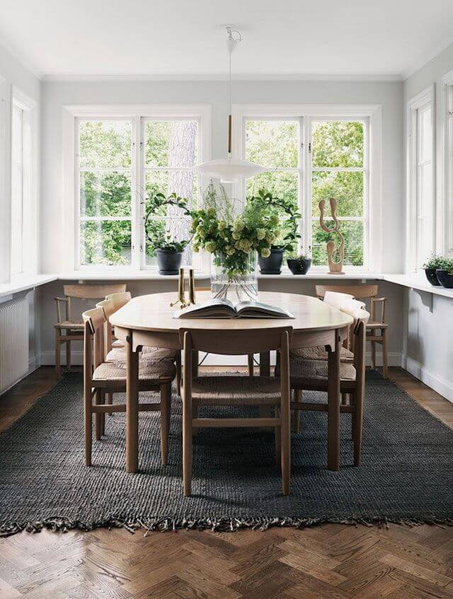 Two Design Lovers Dining Room Rugs nordic brown rug