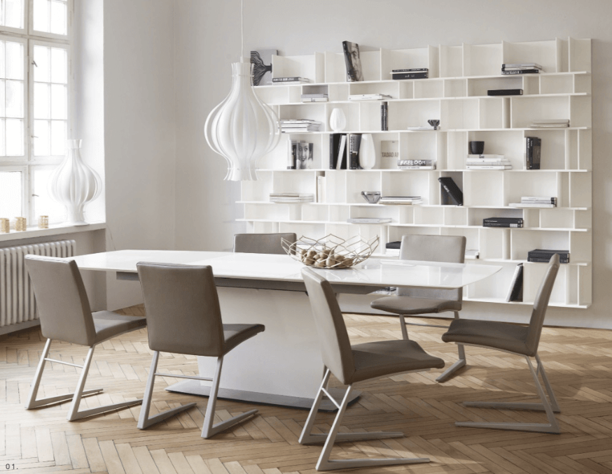 Two Design Lovers Bo Concept contemporary dining room with mariposa chair