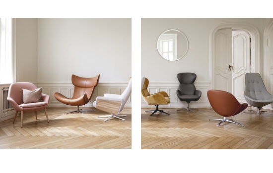 Two Design Lovers Bo Concept armchairs