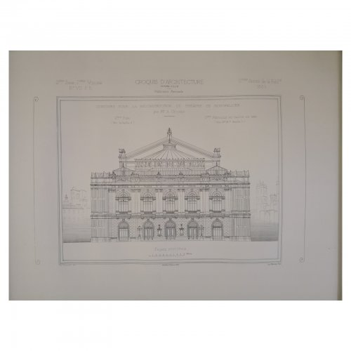 Two Design Lovers architectural print 'Theatre de Montpellier' from the Croquis d'Architecture series
