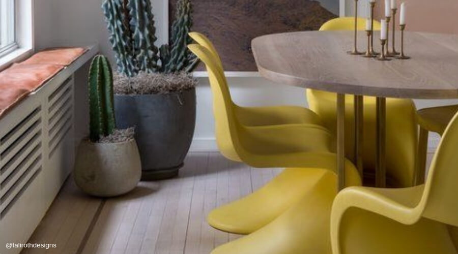 Two Design Lovers Sydney blog post casual dining room yellow chairs