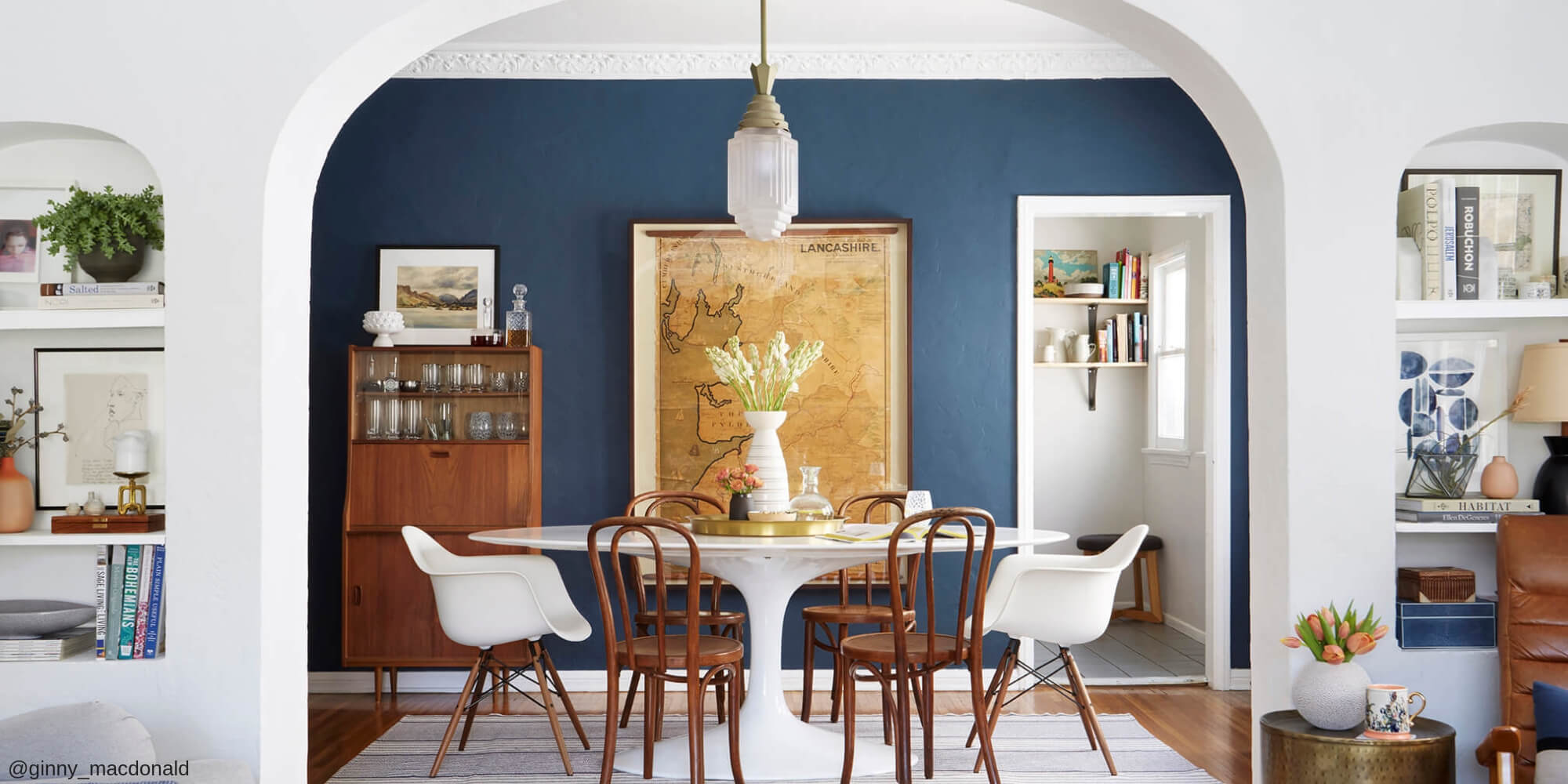 Two Design Lovers tulip table and eames chairs home page image