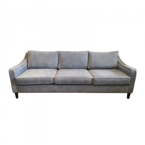 Two Design Lovers Coco Republic three seater grey sofa